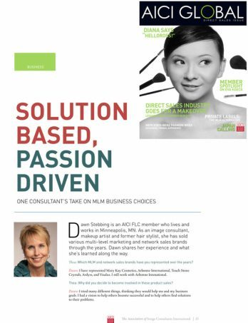 Solution based and passion driven image consultation