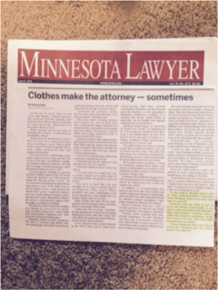 Dawn Stebbing referenced in Minnesota Lawyer