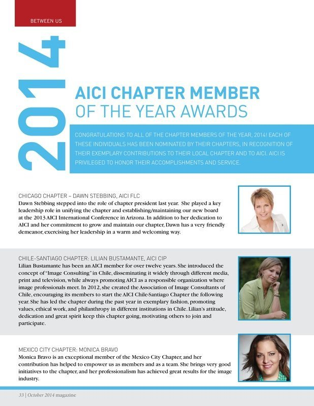 Dawn Stebbing AICI Chapter member
